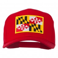 Eastern State Maryland Embroidered Patch Cap - Red