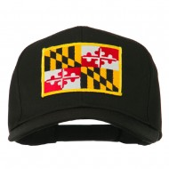 Eastern State Maryland Embroidered Patch Cap - Black