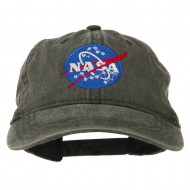 NASA Insignia Embroidered Pigment Dyed Cap - Black