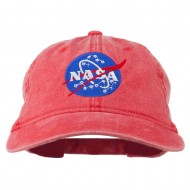 NASA Insignia Embroidered Pigment Dyed Cap - Red