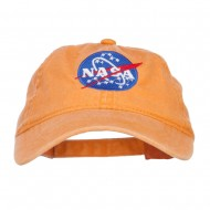 NASA Insignia Embroidered Pigment Dyed Cap - Orange
