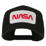 NASA Logo Embroidered Patched Cap - Black