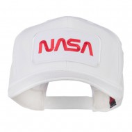 NASA Logo Embroidered Patched Cap - White