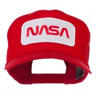NASA Logo Embroidered Patched Cap - Red