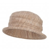 Women's Striped Boiled Wool Bucket Hat - Tan