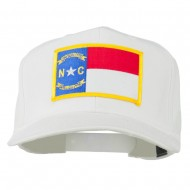 Eastern State North Carolina Embroidered Patch Cap - White
