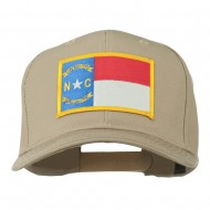 Eastern State North Carolina Embroidered Patch Cap - Khaki