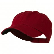 Low Profile Normal Dyed Cap - Maroon Navy