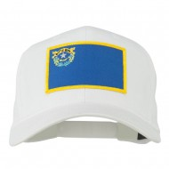 State of Nevada Embroidered Patch Cap - White