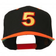 Arial Number 5 Embroidered Classic Two Tone Cap - Neon Orange