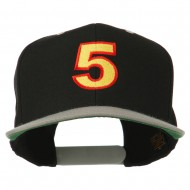 Arial Number 5 Embroidered Classic Two Tone Cap - Black Silver