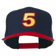 Arial Number 5 Embroidered Classic Two Tone Cap - Navy Red