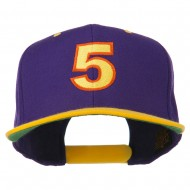 Arial Number 5 Embroidered Classic Two Tone Cap - Purple Gold