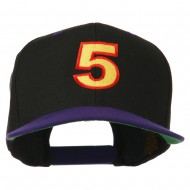 Arial Number 5 Embroidered Classic Two Tone Cap - Black Purple