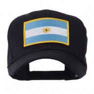 North and South America Flag Embroidered Patch Cap - Argentina