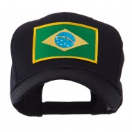North and South America Flag Embroidered Patch Cap - Brazil