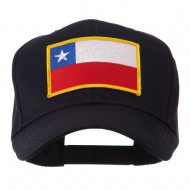 North and South America Flag Embroidered Patch Cap - Chile