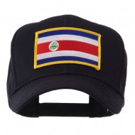 North and South America Flag Embroidered Patch Cap - Costa Rica