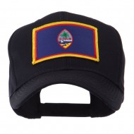 North and South America Flag Embroidered Patch Cap - Guam