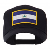 North and South America Flag Embroidered Patch Cap - Nicaragua