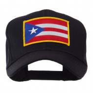 North and South America Flag Embroidered Patch Cap - Puerto Rico