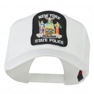 New York State Police Patched Twill Pro Style Cap - White