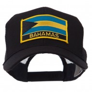 North and South America Flag Letter Patched Mesh Cap - Bahamas