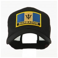 North and South America Flag Letter Patched Mesh Cap - Barbados