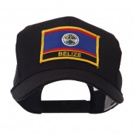 North and South America Flag Letter Patched Mesh Cap - Belize