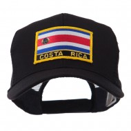 North and South America Flag Letter Patched Mesh Cap - Costa Rica