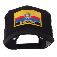 North and South America Flag Letter Patched Mesh Cap - Ecuador