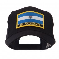 North and South America Flag Letter Patched Mesh Cap - El Salvador