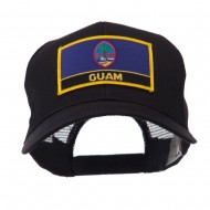 North and South America Flag Letter Patched Mesh Cap - Guam