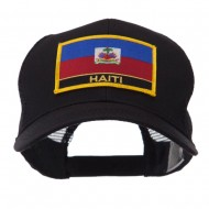 North and South America Flag Letter Patched Mesh Cap - Haiti