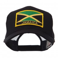North and South America Flag Letter Patched Mesh Cap - Jamaica