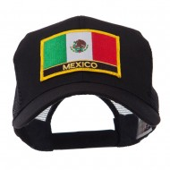 North and South America Flag Letter Patched Mesh Cap - Mexico