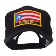 North and South America Flag Letter Patched Mesh Cap - Puerto Rico