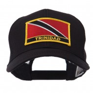 North and South America Flag Letter Patched Mesh Cap - Trinidad