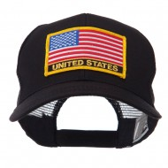 North and South America Flag Letter Patched Mesh Cap - United States