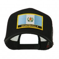 North and South America Flag Letter Patched Mesh Cap - Guatemala