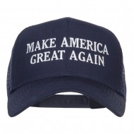 Make America Great Again Embroidered Mesh Cap - Navy