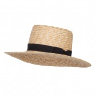 Women's Straw Braid Top Sun Hat - Natural