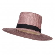 Women's Straw Braid Top Sun Hat - Lavender
