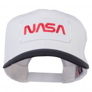 NASA Patched Two Tone Pro Style Cap - Black White
