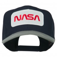 NASA Patched Two Tone Pro Style Cap - Grey Navy