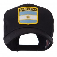 North and South America Flag Shield Patch Cap - Argentina