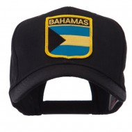 North and South America Flag Shield Patch Cap - Bahamas