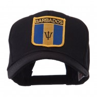 North and South America Flag Shield Patch Cap - Barbados