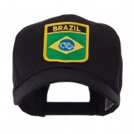 North and South America Flag Shield Patch Cap - Brazil