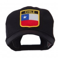 North and South America Flag Shield Patch Cap - Chile
